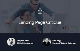 """Landing Page Critiques"" with Justin Rondeau & Rich Page"