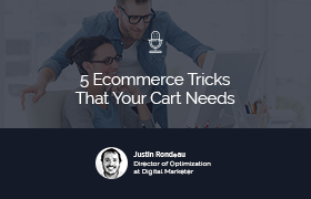 5 E-commerce Tricks your Cart Page Needs NOW!