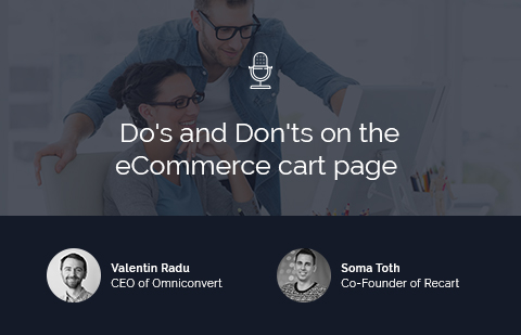 Do's and Don'ts on the eCommerce cart page